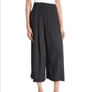 Vince Striped High-Rise Cropped Culotte Pants 8